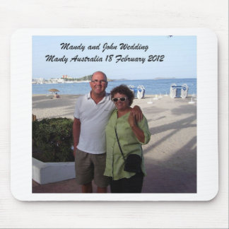 Mandy and John Weddding Souvenirs Mouse Pad