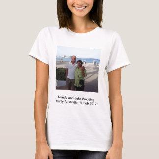 Mandy and John Weddding Souvenirs T-Shirt