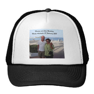 Mandy and John Weddding Souvenirs Trucker Hat