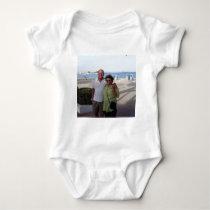 Mandy and John Wedding souvenirs Baby Bodysuit