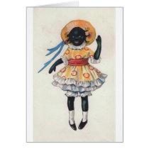 Mandy Black African American Doll Vintage Photo Card