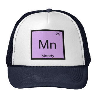 Mandy Name Chemistry Element Periodic Table Trucker Hat