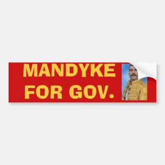 MANDYKE FOR GOV. BUMPER STICKER
