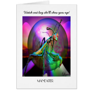 Maneater Custoimizable Stationery Note Card