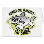 Maneater Fat Shark Greeting Card