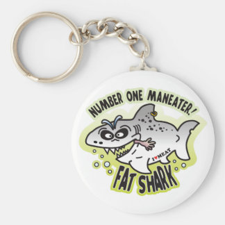 Maneater Fat Shark Keychains