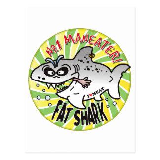 Maneater Fat Shark Post Card