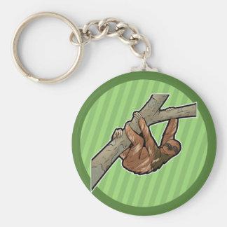Maned Three Toed Sloth Keychain