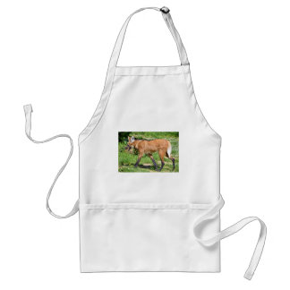 Maned Wolf walking on grass Adult Apron