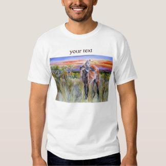 Maned Wolf Watercolor Art T-shirt