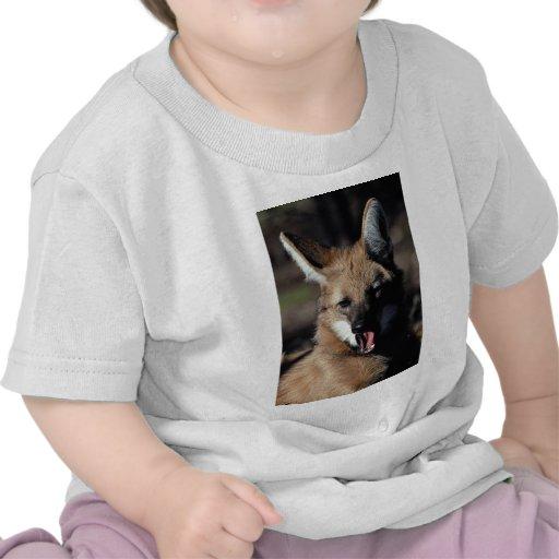 Maned wolf yawning tshirt