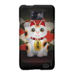 Maneki de cerámica blanco Neko Samsung Galaxy S2 Funda