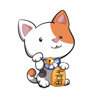 Maneki lindo Neko (gato que tienta afortunado) Imán Fotoescultura