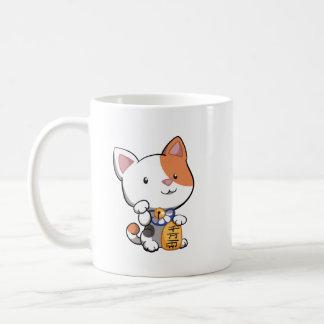 Maneki lindo Neko (gato que tienta afortunado) Tazas