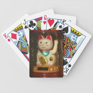 Maneki-neko 002, Winke-Glueckskatzen, Winkekatze Bicycle Playing Cards