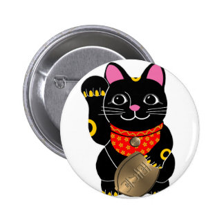 Maneki Neko 2 Inch Round Button