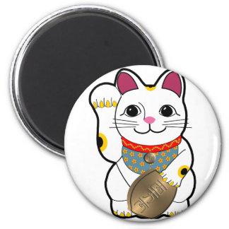 Maneki Neko 2 Inch Round Magnet