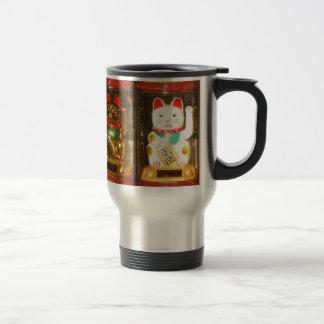 Maneki-neko 2, Winke-Glueckskatzen, Travel Mug