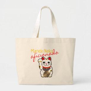 Maneki Neko Aficionado Large Tote Bag 6d374ba577542