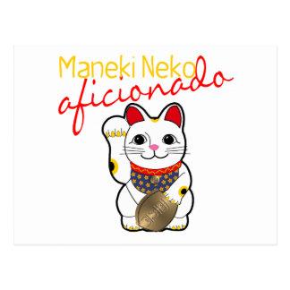 Maneki Neko Aficionado Postcard