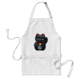 "Maneki Neko ""Beckoning Cat"" Lucky Cat Adult Apron"