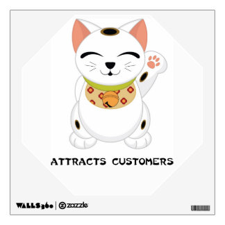 Maneki Neko Business - Shop Owner Cat  - SRF Wall Decal