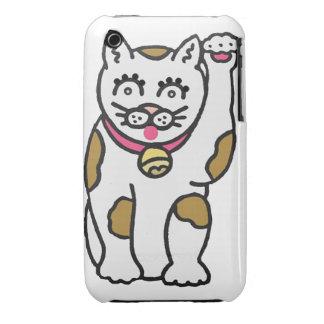 Maneki Neko, casamata afortunada de la curva de Funda Para iPhone 3 De Case-Mate