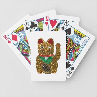 maneki neko cat bicycle playing cards