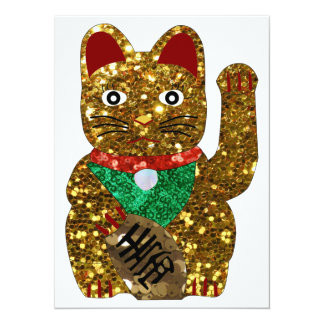 maneki neko cat card