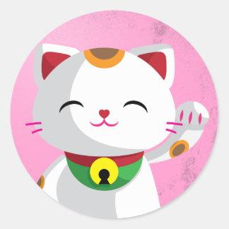 Maneki Neko Classic Round Sticker