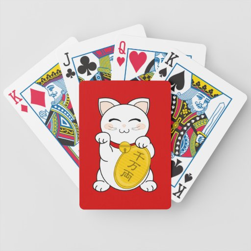 Maneki Neko - gato de la buena fortuna Baraja Cartas De Poker