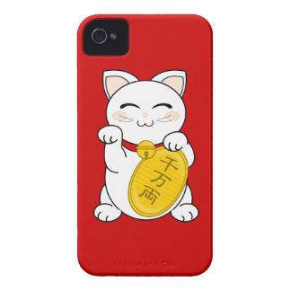 Maneki Neko - gato de la buena fortuna Case-Mate iPhone 4 Cobertura