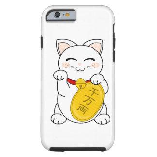Maneki Neko - gato de la buena fortuna Funda De iPhone 6 Tough