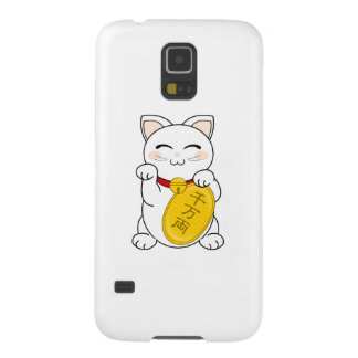 Maneki Neko - gato de la buena fortuna Funda Para Galaxy S5