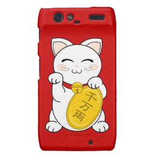 Maneki Neko - gato de la buena fortuna Motorola Droid RAZR Carcasa
