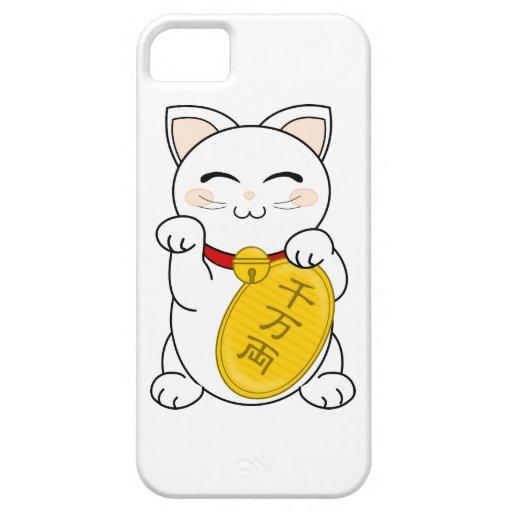 Maneki Neko - gato de la buena fortuna iPhone 5 Cobertura