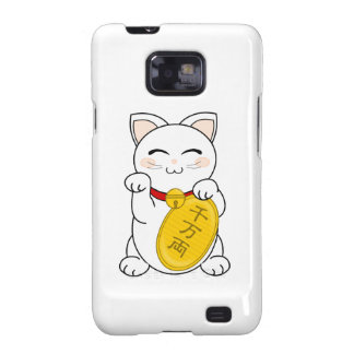 Maneki Neko - gato de la buena fortuna Samsung Galaxy S2 Carcasas