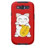 Maneki Neko - gato de la buena fortuna Samsung Galaxy S3 Carcasa