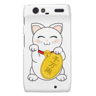 Maneki Neko - gato de la buena fortuna Droid RAZR Carcasas