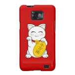 Maneki Neko - gato de la buena fortuna Galaxy SII Carcasas