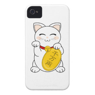 Maneki Neko - gato de la buena fortuna iPhone 4 Carcasa