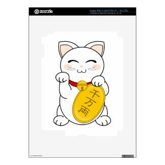 Maneki Neko - gato de la buena fortuna Pegatina Skin Para iPad 3