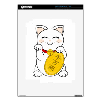 Maneki Neko - gato de la buena fortuna iPad 2 Calcomanías
