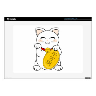 Maneki Neko - gato de la buena fortuna Calcomanía Para Portátil