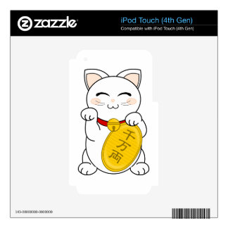 Maneki Neko - gato de la buena fortuna iPod Touch 4G Skin