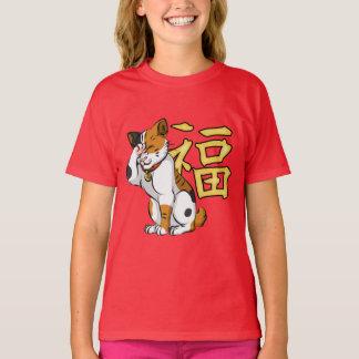 Maneki Neko Girls' Hanes TAGLESS® T-Shirt