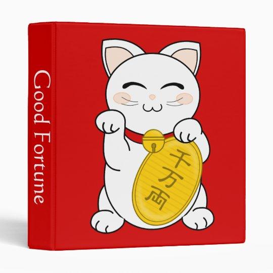 Maneki Neko - Good Fortune Cat 3 Ring Binder