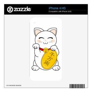 Maneki Neko - Good Fortune Cat Skins For The iPhone 4