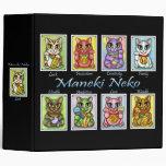 Maneki Neko Good Luck Cat Fantasy Art Avery Binder