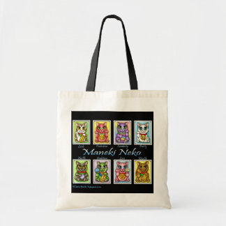 Maneki Neko Good Luck Cats Fantasy Cat Art Bag